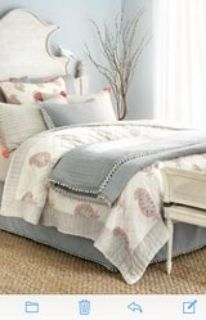 queen quilt and Euro shams