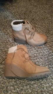Brand new, brown short boots