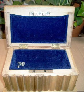Handmade Wooden Jewelry Box with Carved Design