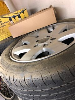 Four BMW 328i Tires and Rims