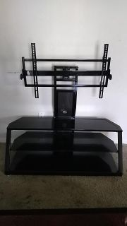 """Black glass tv stand hold up to 50 """""""