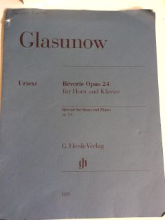 Glasunow Reverie Opis 24 for horn and piano
