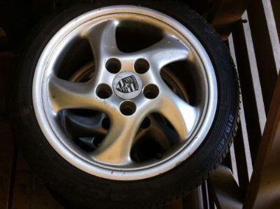 Find porsche turbo twist wheels 17x9 & 17x7 with new tires motorcycle in Los Angeles, California, US, for US $0.99
