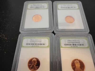 different us lincoln cents slabbed unc