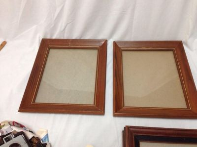 Set of two Wood Frames with Glass. Holds 8 x 10. Has a few scratches. Pick up at Target in McCalla on Thursdays 5:15 to 6:00pm.