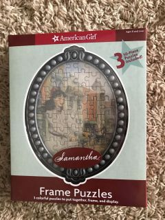 New! American Girl puzzles with frame