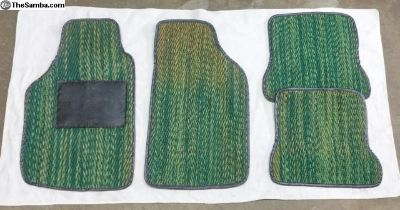 Coco Mats for Beetle GREEN w/black trim, used