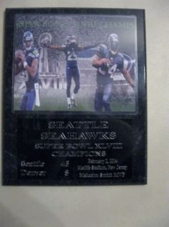 *** SEATTLE SEAHAWKS Super Bowl XLVIII Champs plaque - NEW ***