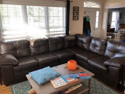 Well-loved sectional sofa