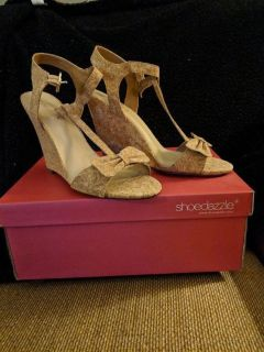 Wedges - cork material. Size 9.5. Never worn