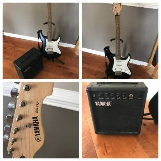 Yamaha Electric Guitar with Boom Box