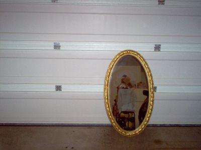 """Oval mirror 41""""h x 23""""w"""