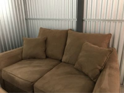 Beautiful Microfiber Couch, Loveseat, Oversized chair & ottoman!