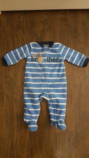 Excellent condition fleece pajamas for 0 to 3 month