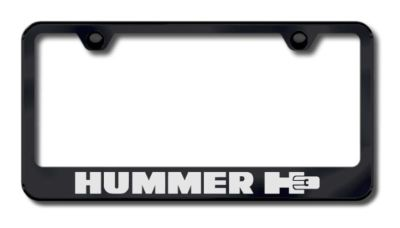 Buy GM Hummer H3 Etched License Plate Frame-Black Made in USA Genuine motorcycle in San Tan Valley, Arizona, US, for US $34.49
