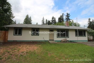 One story home for rent with detached shop, Bonney Lake