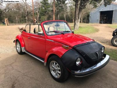 Gorgeous restored 1977 Beetle Convertible