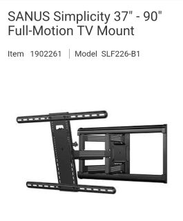 best quality SANUS SIMPLICITY full motion tv wall mounts