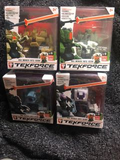 TekForce Battle Robots 20.00 for all 4