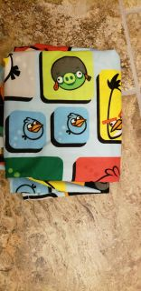 Angry Birds shower curtain and valance