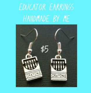 EDUCATOR EARRINGS ~ HANDMADE BY ME