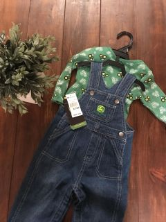 John Deere Overalls Outfit- NWT