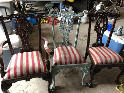 3 solid wood project chairs