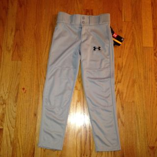 Baseball Pants - Youth Small - Gray NEW - Under Armour