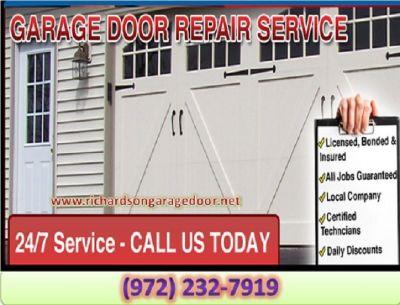 Same Day | Garage Door Repair Service ($25.95) Richardson Dallas, 75081 TX