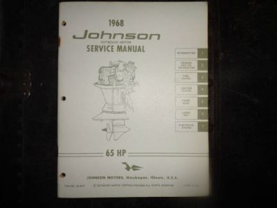 Buy 1968 JOHNSON SERVICE MANUAL 65 HP MOTORS @@@CHECK THIS OUT@@@ motorcycle in Atlanta, Georgia, United States, for US $14.99
