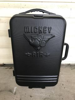 STUNNING Disney Mickey Air Hard Case Luggage Suitcase