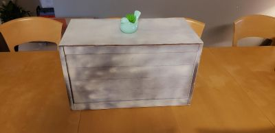 Small light weight be wood box - used as a toy box