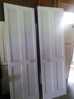 set of bi-fold closet doors