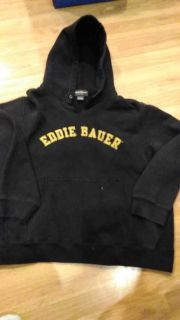 Eddie Bauer hoodie, used, small spot on front, great for hay rides, campfires.