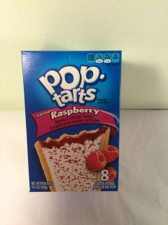 Frosted raspberry Pop tarts, expiration March 2020