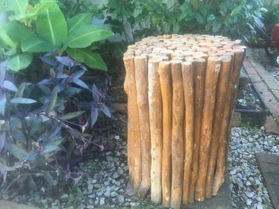 Handmade all wood stick structure , table or stand