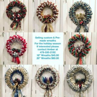 Hand crafted holiday wreaths