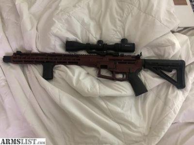 For Trade: Custom skeletonized AR 15