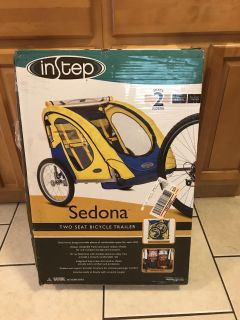 Never used inStep Sedona two seat bicycle trailer. $50.00