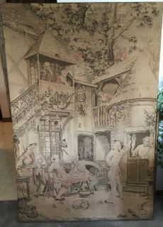 antique tapestry, very old