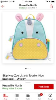 New unicorn backpack without tags