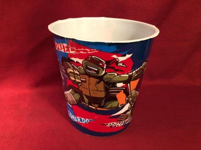 Jay Franco Ninja Turtle Plastic Waste Can. 9 x 9-1/2 . Good Condition