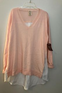 Pretty Pink and white top nwot