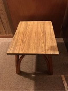 Wood & Bamboo End Table