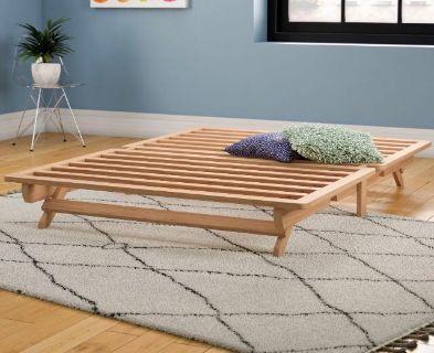 Wooden futon frame and mattress GUC