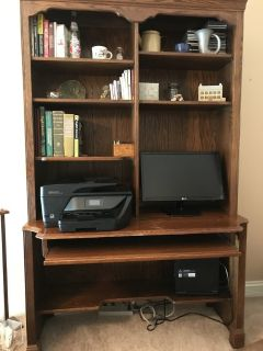Ethan Allen desktop computer desk and shelf unit