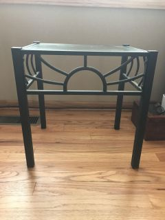 Small black wrought iron table