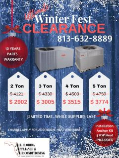 AC Package Units Winter Fest Clearance