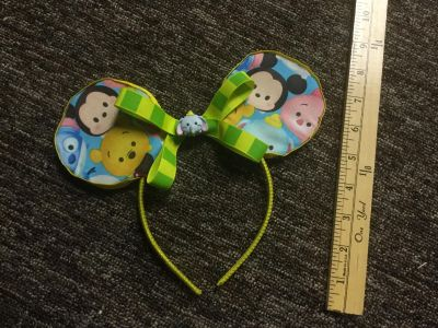 Custom made Disney Tsum Tsum Minnie Ears with Tsum Tsum dumbo bead in center, $4.00 GUC with normal light wear, nothing major.
