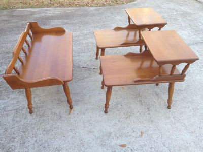 Coffee table and 2 end tables $100.00